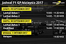 Jadwal lengkap F1 GP Malaysia 2017