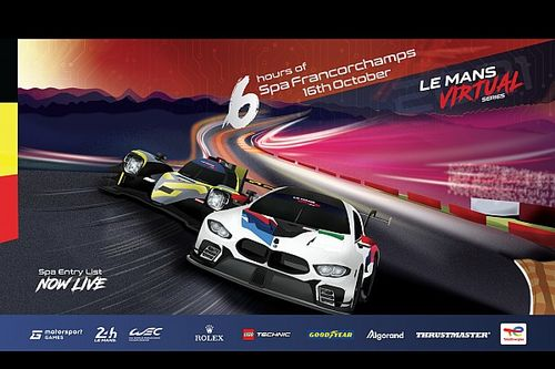 Le Mans Virtual Series Race 2 at Spa-Francorchamps entry list unveiled