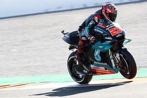 Valencia MotoGP: Quartararo tops FP2 as Rossi crashes again