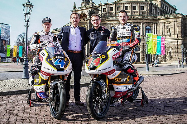 Il team Peugeot Motorcycle Saxoprint presenta la sua livrea 2017