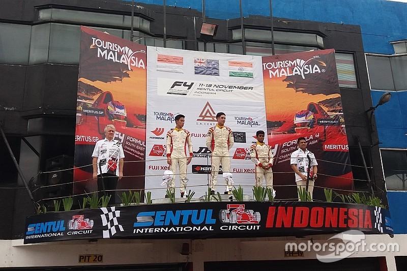 F4/SEA Sentul: Kahia juara Race 5, Presley Martono kembali naik podium