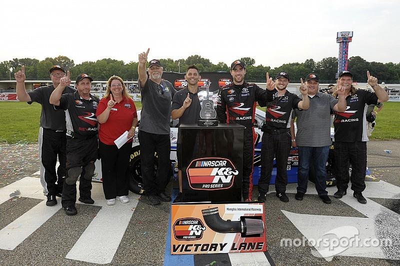 Former NASCAR Mexico champion Ruben Garcia Jr. wins first U.S. race