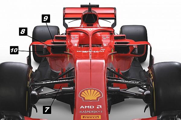 F1 Análisis Análisis técnico: las 10 sutilezas del Ferrari SF71H
