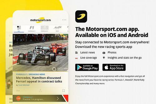 Motorsport.com'un yeni mobil uygulaması yayında!