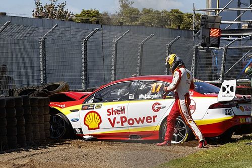 McLaughlin will 'kick himself up the arse' after practice crash