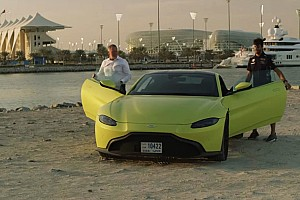 Auto Actualités Daniel Ricciardo teste la nouvelle Aston Martin Vantage