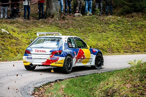 Loeb's first test in the rebuilt Peugeot 306 Maxi