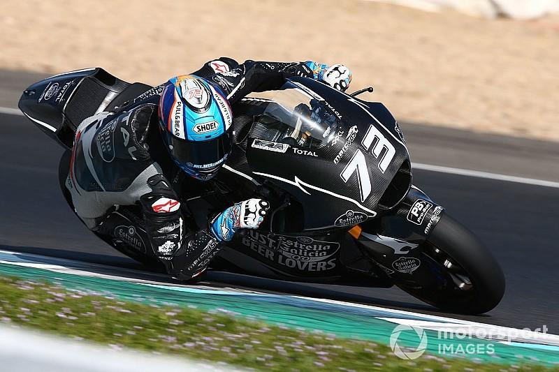 Marquez topt tweede dag van Moto2-test Jerez, Bendsneyder vijftiende