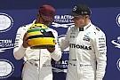 Hamilton no recibió un casco original de carrera de Senna