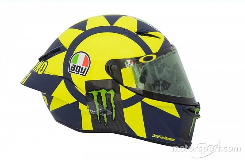 Pamer helm baru, Rossi terinspirasi Formula 1