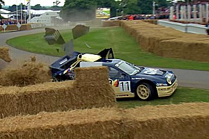 Automotive Breaking news Watch this Ford RS200 EVO crash on a hill at Goodwood