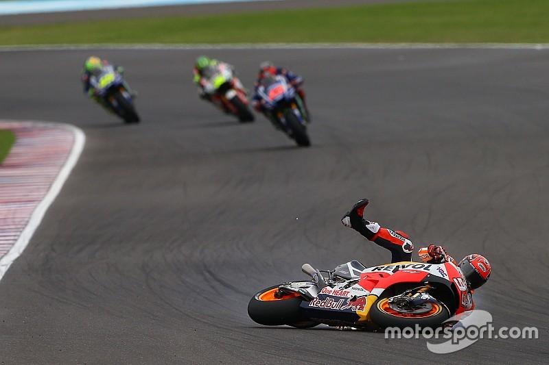 """ماركيز: حادث الأرجنتين يُظهر أنّ درّاجة هوندا """"ليست جاهزة"""""""