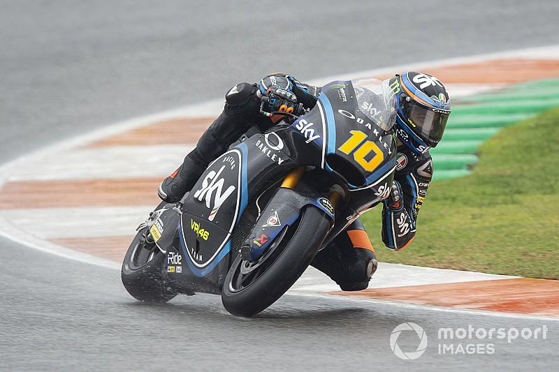 Moto2, Valencia: Marini risorge sull'asciutto e centra la seconda pole stagionale