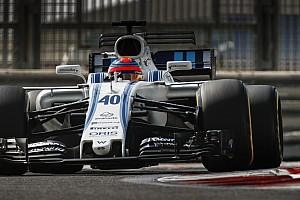 Formule 1 Diaporama Robert Kubica en piste avec Williams à Abu Dhabi