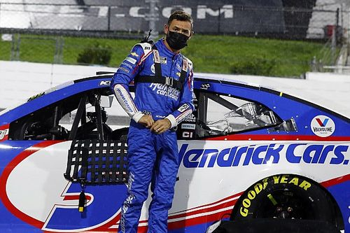 """Kyle Larson had a plan to win at Kansas but """"screwed that up"""""""