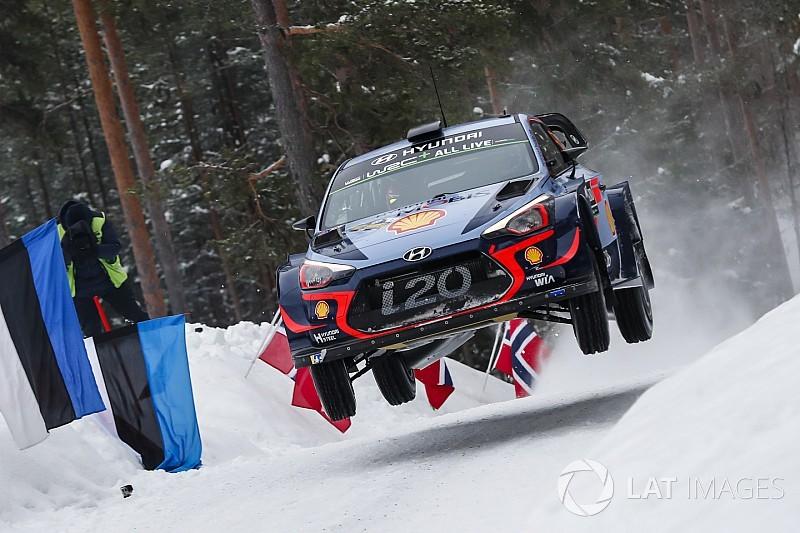 WRC Zweden: Neuville voert Hyundai 1-2-3 aan