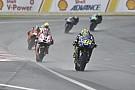 Rossi fährt hinterher: Yamaha im Regen