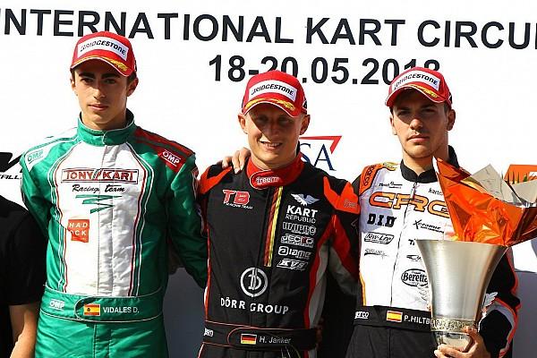 Kart Crónica de Carrera Hiltbrand, nuevo líder del Europeo OK y Vidales, en el podio