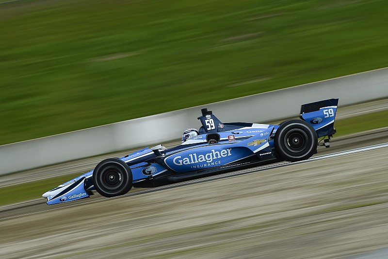 Chilton leads morning IndyCar test session at Laguna Seca