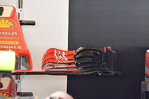 Ferrari: l'ala anteriore senza upper flap e gli specchietti simulano le regole 2019