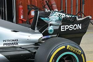 Formula 1 Analisi Mercedes W08: la T-wing adesso ha un doppio profilo