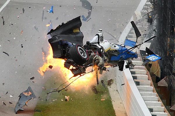 IndyCar Новость Видео: крупная авария Диксона, из-за которой остановили Indy 500