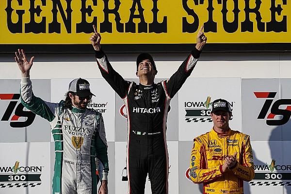 IndyCar IndyCar Iowa: Castroneves zegeviert voor het eerst in drie jaar