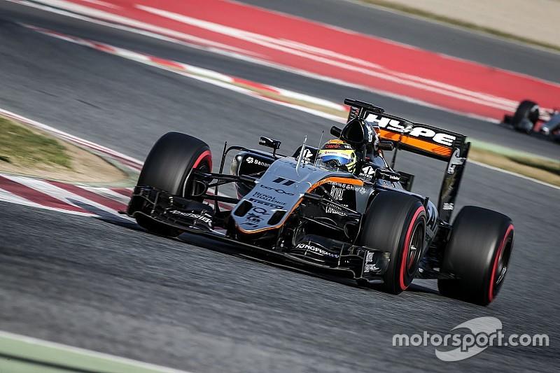"""Perez denies Force India is """"showboating"""""""
