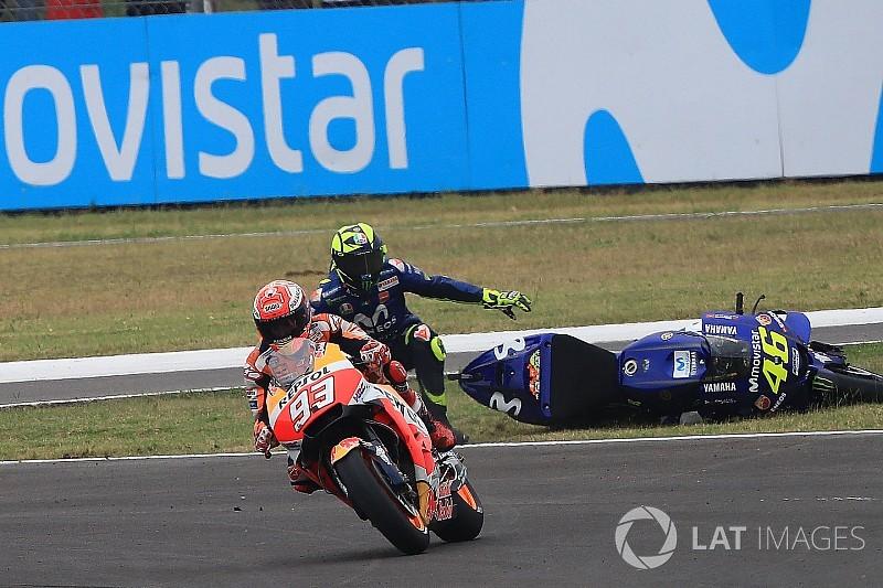 A Márquez no le preocupa que estalle una nueva guerra con Rossi