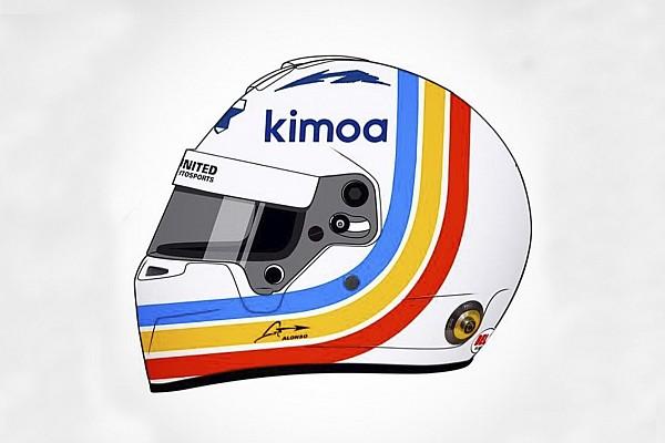 Alonso rivela i colori del casco che utilizzerà alla 24 Ore di Daytona