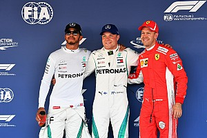 Starting grid F1 GP Rusia 2018