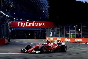 F1 排位赛报告 新加坡大奖赛排位赛:维特尔力挫红牛摘下杆位,汉密尔顿第五