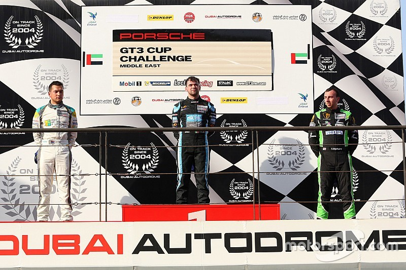 بورشه جي تي 3 الشرق الأوسط: كولين يحرز الفوز بالسباق الثاني في دبي