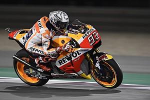 MotoGP Crónica de test Márquez lidera el warm up en Qatar antes de caerse