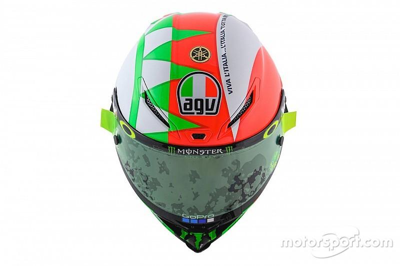Galería: El casco especial de Rossi para el Gran Premio de Italia