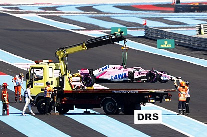 Force India: Perez verliert Rad, Balance alles andere als gut