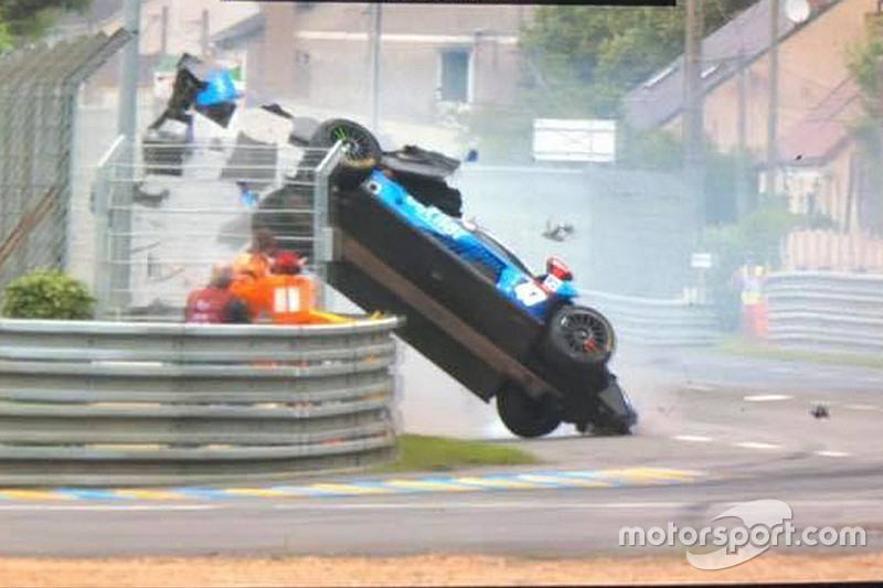 villorba corse chassis survives airborne le mans crash. Black Bedroom Furniture Sets. Home Design Ideas