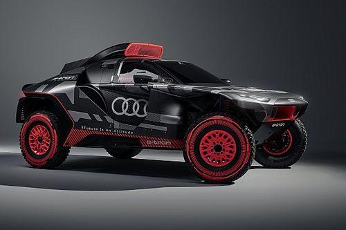 Az Audi bemutatta az új, hibrid meghajtású Dakar-autóját (galériával)