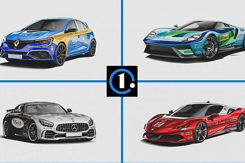 Посмотрите на 5 дорожных машин в культовых ливреях Формулы 1