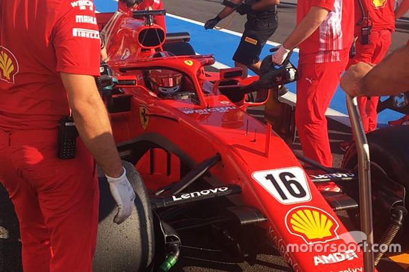 Leclerc completa teste de pneus com Ferrari