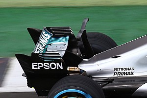 Mercedes undecided on full shark fin after testing T-wing