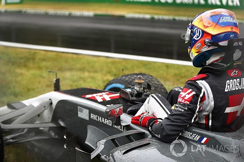 Após bater, Grosjean critica FIA por autorizar Q1 em Monza