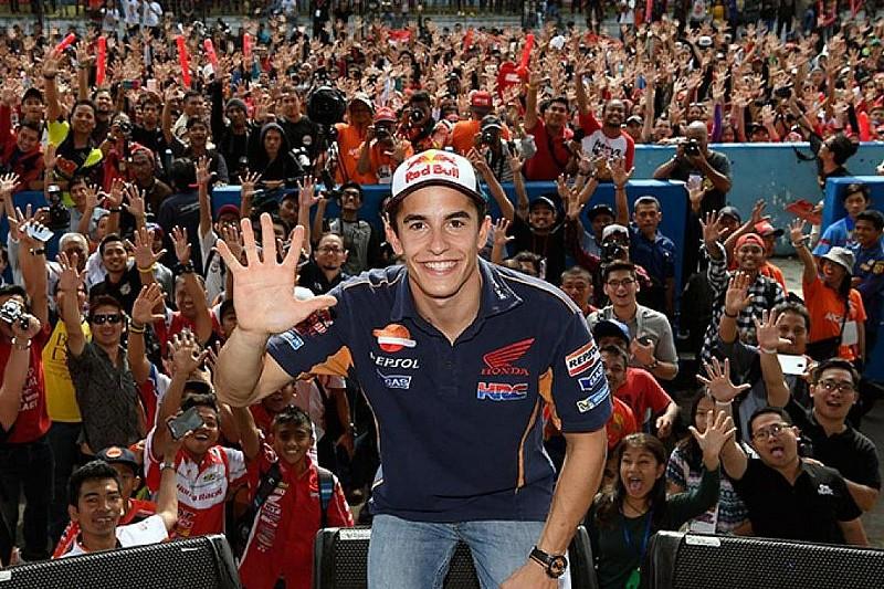 Marquez rayakan gelar juara MotoGP 2016 di Sentul
