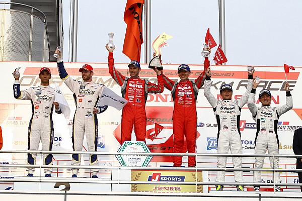 Super GT Tsugio Matsuda and Ronnie Quintarelli shows their champion prowess at Okayama