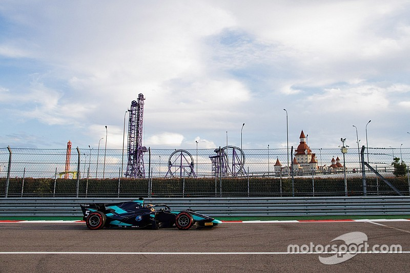 Sochi F2: Albon wins chaotic race, drama for Norris