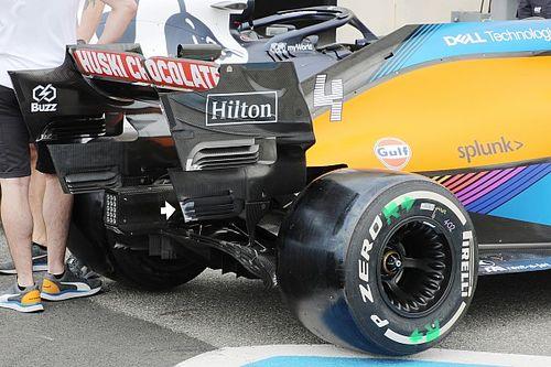 McLaren: quattro soffiaggi per ripulire la scia della MCL35 M