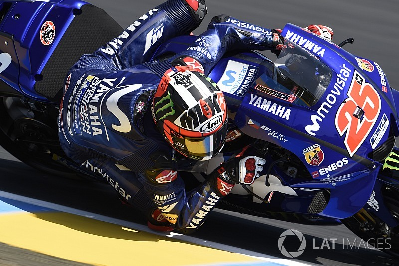 MotoGP Le Mans 3. antrenman: Vinales, Marquez'i son turuyla geçti!