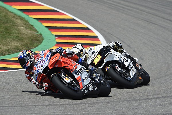 MotoGP Breaking news Dovizioso's two-corner German GP strategy failed