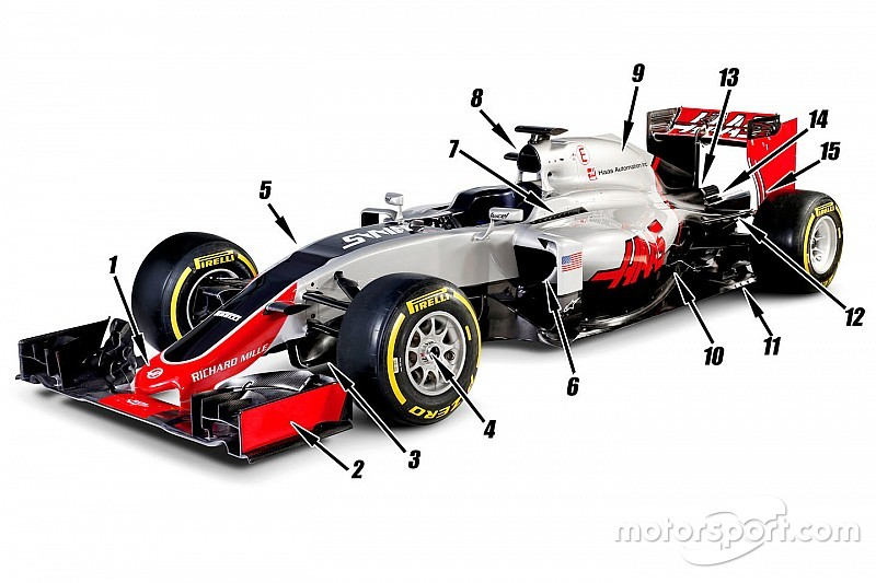 analysis The 15 major design features of the Haas F1 car – Diagram Of A Formula 1 Race Engine