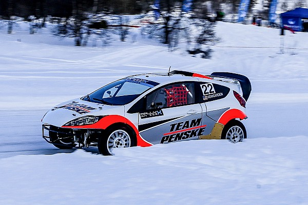 "World Rallycross Breaking news Newgarden on ice racing: ""It's almost like I've never raced before!"""